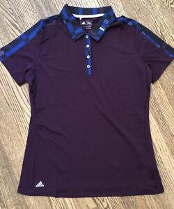 adidas Women's Merch Sh/Sleeve Polo Golf Shirt Red Night - Purple Medium NWT