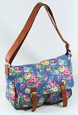 Elizabeth Rose Floral Pattern 'Madison' Satchel Bag (JBCB159-blue)