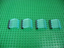 4x LEGO Trans-Lt Blue Hinge Panel 2x4x3 1/3 Train Wall Window 4559/32 #2582