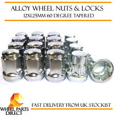 Wheel Nuts & Locks (12+4) 12x1.25 Bolts for Suzuki Alto [Mk1] 79-84