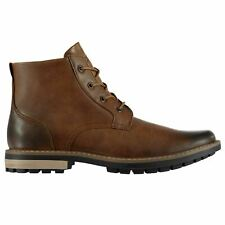 MENS SOVIET MILITARY COMBAT ANKLE BOOTS LACE UP BROWN SMART CASUAL SHOES SIZE 8