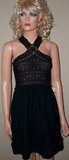 Victoria Secret Moda Black Crochet Trim Dress M