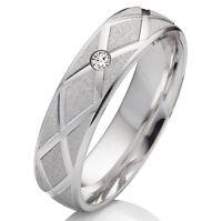 Verlobungsring aus 925 Silber Damenring mit Zirkonia und Ringe Gravur SEZ49
