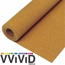 "Cork Vinyl Textured Film Architectural Underlay Contact Paper Roll 17.8"" x 3ft"