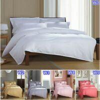 Striped Doona/Quilt/Duvet Cover Set Single/Double/Queen/King Size Bed 100%Cotton