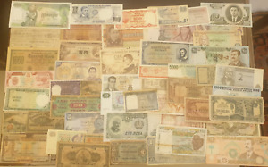 World Paper Money Lot of 50 Notes