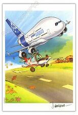 Ex-libris Barbaud Les Dézingueurs Avion Airbus A380 250ex-s 14,5x21