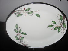 LENOX -  HOLIDAY NOUVEAU WHITE PLATINUM PLATTER - NEW/ MINT