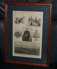 1885 FRANK LESLIE'S ILLUSTRATED NEWSPAPER INDIAN TERRITORY 9 US CAVALRY OKLAHOMA