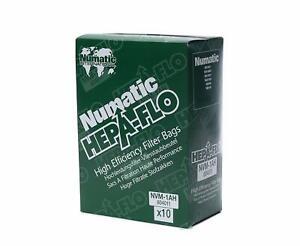 10 Pack Of Genuine Numatic International RSV130 Vacuum Hepa-Flo Dust Bags 604011