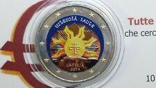 2 euro 2019 LETTONIA color farbe kleur couleur Uzlecosa Lettonie Lettland Latvia
