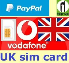Vodafone United Kingdom, PREPAID SIM card. UK. No registration required.