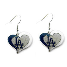 Brand New Mlb Los Angeles La Dodgers Swirl Heart Earring Dangle Charm