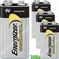 4 x Energizer 9V PP3 Industrial Alkaline Batteries Smoke Alarm LR22 MN1604