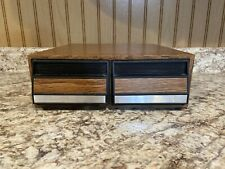Vintage Faux Wooden 2 Drawer Cassette Tape Storage Cabinet Case (Holds 28)