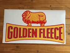 Large Golden Fleece 'ram on Dogbone' Vinyl Decal for 605 Petrol Bowser / Pump
