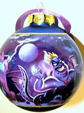 Disney Parks Villains Storybook Ursula Glitter Glass Ball Ornament New With Tags