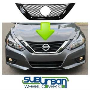FITS 2016-2018 Nissan Altima # GI436BLK ABS GLOSS BLACK Tape On Grille Insert