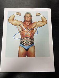 WWE Autographed 8x10 Of Lex Luger COA