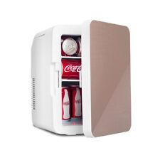 10L Mini Fridge Cooler Warmer Small Electric Portable Handle Skincare Car Golden