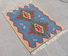 Turkish Kilim Rug 35''x47'' Hand Woven West Anatolian Kilim 90x120cm