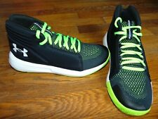 new boys under armour bgs torch mid size 5 youth black/lime/white msrp $75