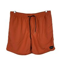 Quiksilver Mens Board Shorts Size Large Elastic Waist Swim Short Orange