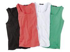 (R36) Damen TOP Longtop Shirts Achselshirt Longshirt Tank Top Lang Shirt