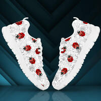 Ladybugs & Flowers Women's And Children's Sneakers - Custom Design Shoes