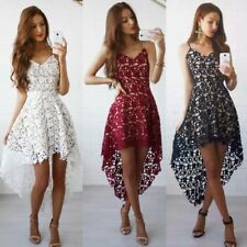 Fashion Women Summer Lace Sleeveless Party Evening Cocktail Short Mini Dress CW
