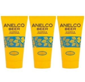 Anelco Hair Beer Shampoo and Conditioner Classic Extra Creamy Formula 3 X 150Ml