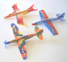 NEW—8- PACK TOY AIRPLANE & DINOSAUR GLIDERS—JETS—WW II Fighters—FUN FLYING TOYS