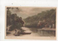 Andrew Beer Old Mill Creek River Dart Devon Vintage Art Postcard 557b