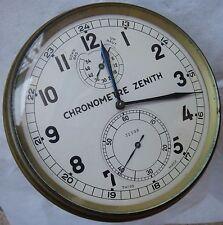 Zenith Old Marine Chronometer wood box missing running condition