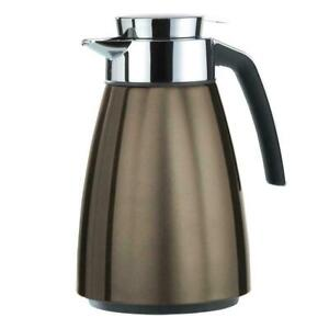 EMSA BELL INSULATED LARGE VACUUM FLASK STAINLESS STEEL - 1.5L - CHOCOLATE