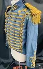 SDL Steampunk Heavy Blue Cotton  Military Jacket Tail Jacket  & Shoulder Boards