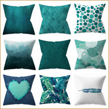 """Teal Home Decor Pillow Cover Sofa Bed Abstract Double Sided Cushion Case 18x18"""""""