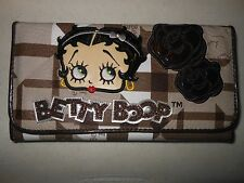 Betty Boop Wallet/Checkbook Holder-New - Brown Trim - Brand New