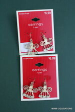 & bling Target Silver/white Holiday Xmas Lot of 2 Angel Earrings w/ moonstone