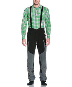 Salewa Herren Alpin Tourenhose Rondo Veneziano schwarz mit Trägern Größe XL