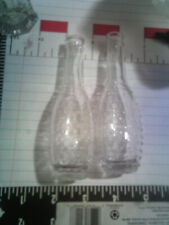 clear mini glass bottles 4 1/2 round ball & clear center dots #2