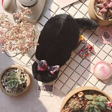 Neko Atsume Cute Cat Backyard Black Plush Doll Pen Pencil Case Storage Bag Pouch