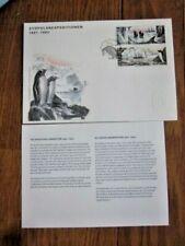 SWEDEN PENGUINS ALBATROSS BIRDS SOUTH POLE EXPEDITION 2002  FDC+INFO CARD
