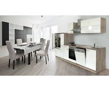respekta Küche Küchenzeile Einbauküche EICHE sägerau WEISS 310 cm CERAN
