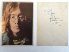 John Lennon and Yoko Ono Autographed Photo (from the White Album)