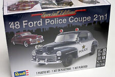 Revell 1/25 1948 Ford Police Coupe or Stock Version Plastic Model Kit 854318