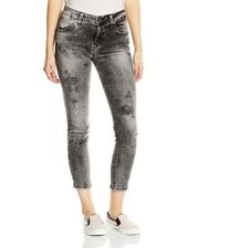 Fornarina Jeans, Damen Hose, Goldie, Boyfriend Fit, Gr. 27, grau, destroyed