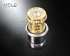 Gold 12V Crystal Car Power Plug Socket Output 20mm Cigarette Lighter Ignition