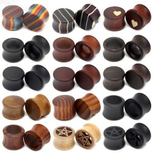 8-50mm Ear Plugs Big Size Tunnel Stretcher Wood Expander Piercing Unisex Jewelry