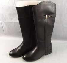 Sociology Lamano Riding Boots Size 10 Womens Black NEW Synthetic Calf High Shoes